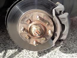 Brake Rotor and Caliper on the car