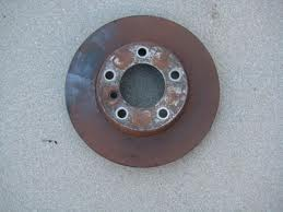 Rusted Brake Rotor Flash Rust Example