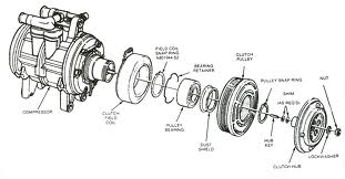 Exploded Diagram of AC Compressor