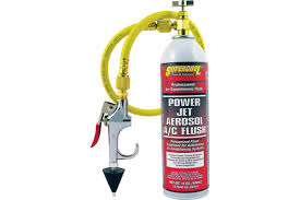 Power jet aerosol ac flush