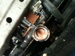 radiator cap off with automadic trans fluid