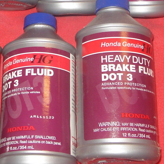 Heavy Duty Or Standard Dot 3 Brake Fluid Acura TSX