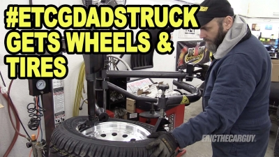 Dads Truck Gets Wheels and Tires 400