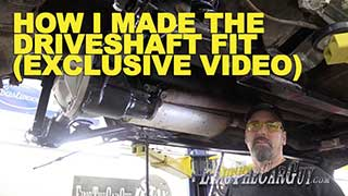 Moving the Fairmont Driveshaft Exclusive Video