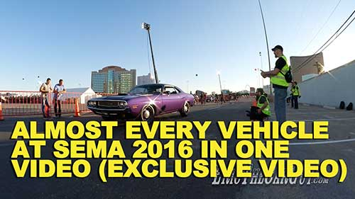 Almost Every Vehicle At SEMA 2016 in One Video Exclusive Video