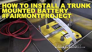 How To Install a Trunk Mounted Battery