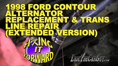 1998 Ford Contour Alternator Replacement Trans Line Repair Extended Version FixingItForward