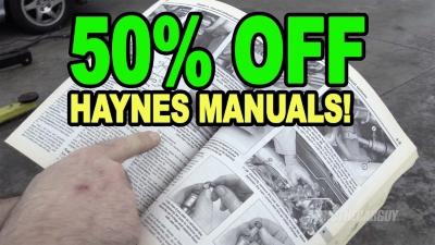 50 Off Haynes Manuals 400