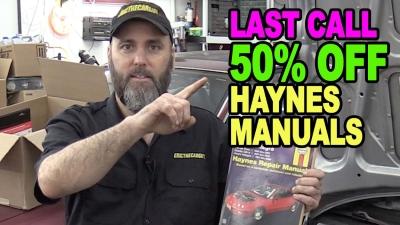 Last Call 50 off Haynes Manuals 400