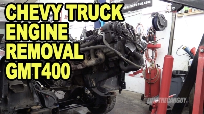 Chevy Truck Engine Removal GMT400 400